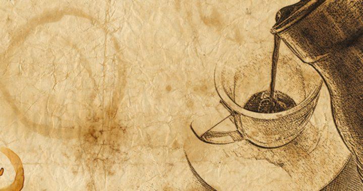 dzbanek i kawa w filiżance