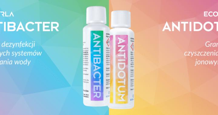 Preparaty do pielęgnacji urządzeń filtracyjnych - Ecoperla Antibacter oraz Ecoperla Antidotum